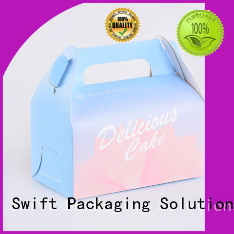 SWIFT corrugated cardboard boxes for food products for dessert