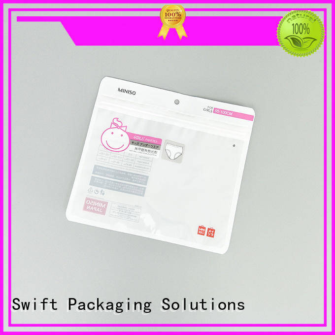 luxury plastic packaging bags wholesale customized for underpants