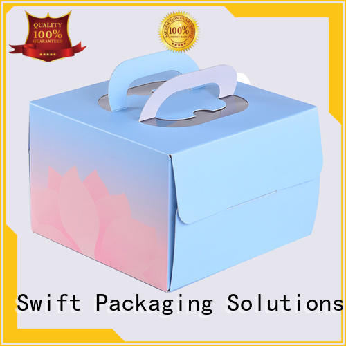 pvc window cardboard food boxes supplier for dessert