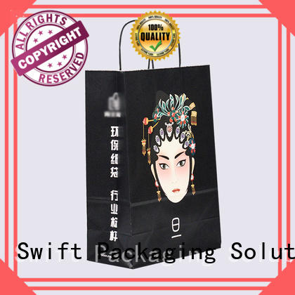 SWIFT hot selling paper gift bags with handles customized for holiday