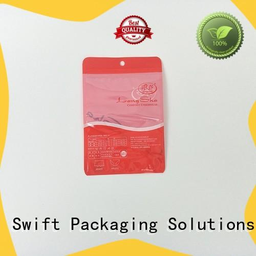 SWIFT popular plastic packaging bags wholesale customized for panties