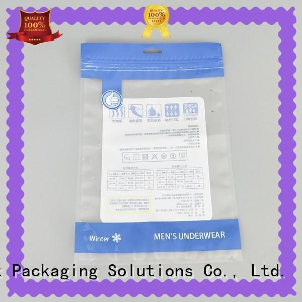 SWIFT eco friendly plastic ziplock bags wholesale for briefs