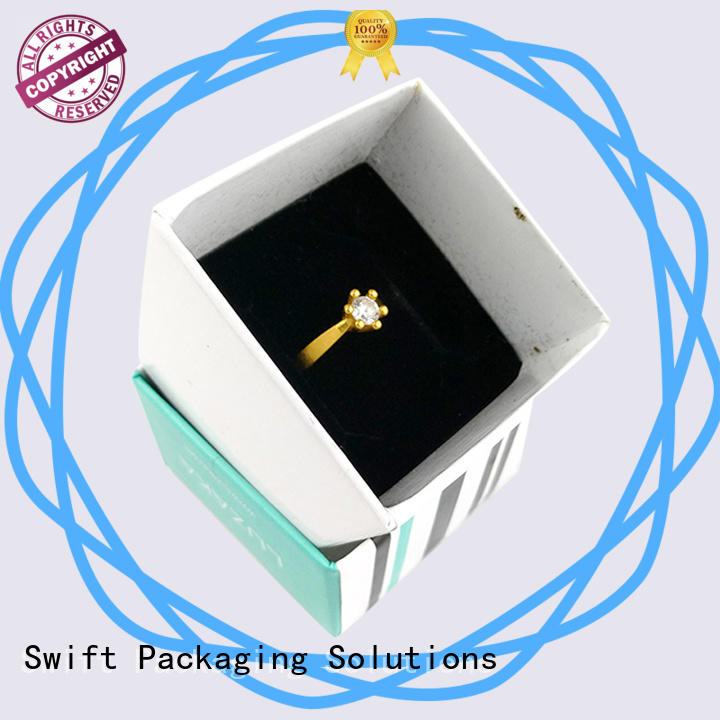 SWIFT fashion cardboard jewelry boxes supplier for bracelet