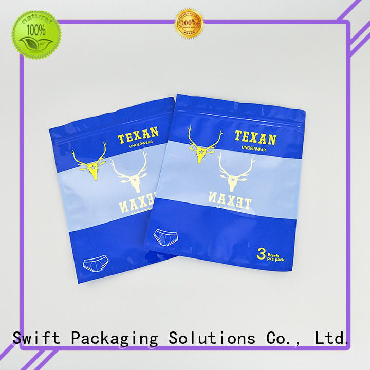 SWIFT quality personalized plastic bags customized for briefs