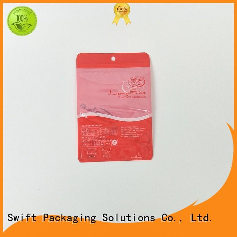 SWIFT plastic packaging bags wholesale directly sale for underpants