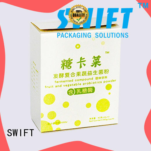 SWIFT disposable cardboard food packaging supplier for cookies