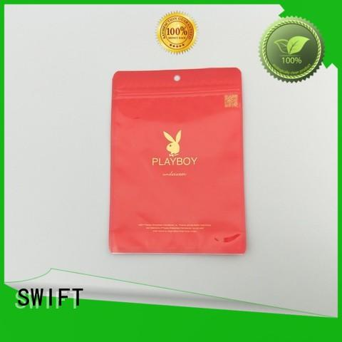 SWIFT plastic packaging bags wholesale customized for briefs