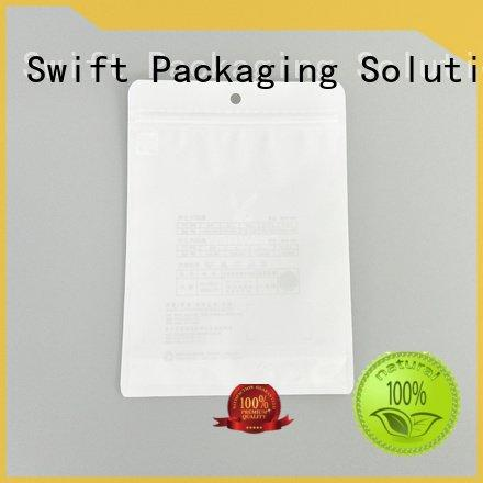 Custom custom printed plastic bags ziplock mens design SWIFT