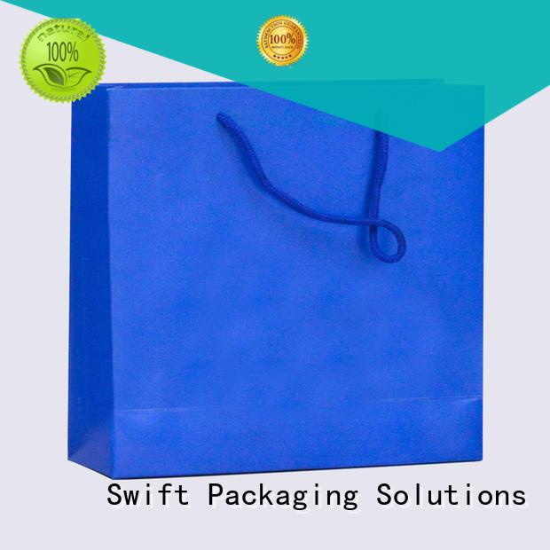 SWIFT zip lock paper carrier bags factory for jacket