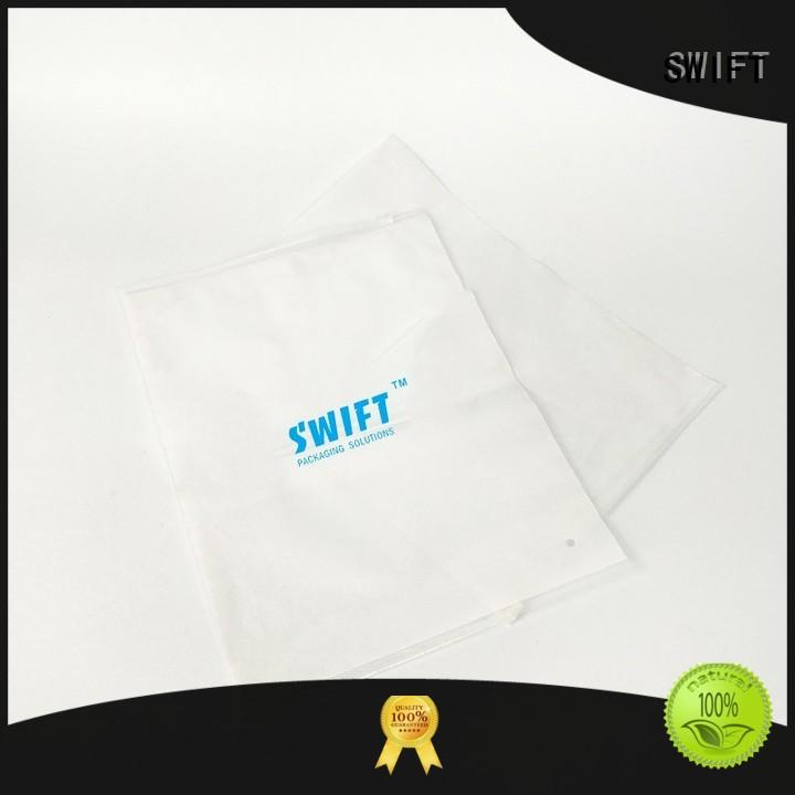 SWIFT cloth packaging bags manufacturer for jacket