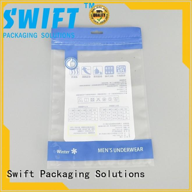 SWIFT custom printed plastic bags factory price for underpants