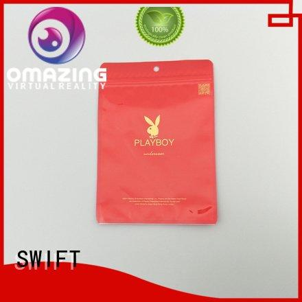 Quality SWIFT Brand packaging custom printed plastic bags