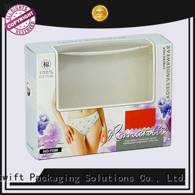 SWIFT recycled paper packaging boxes wholesale with good price for ladies
