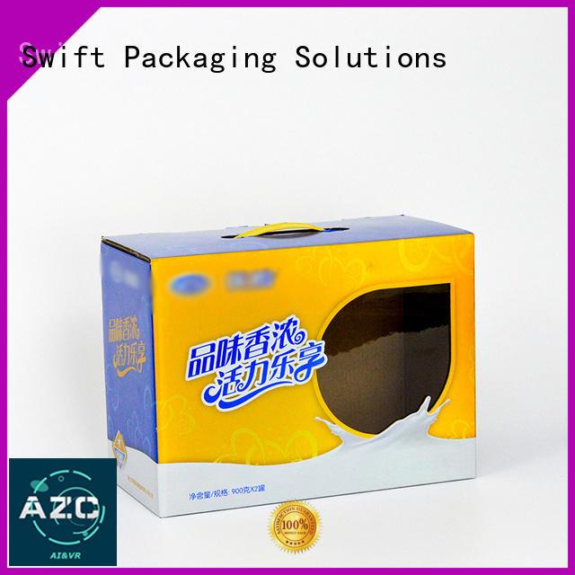 window cardboard food boxes paper SWIFT