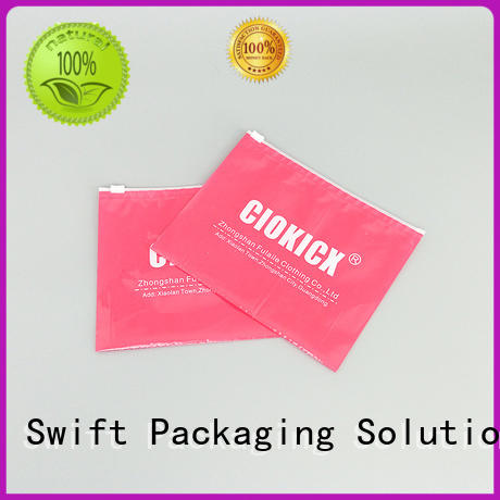 SWIFT colorful custom printed plastic bags supplier for briefs