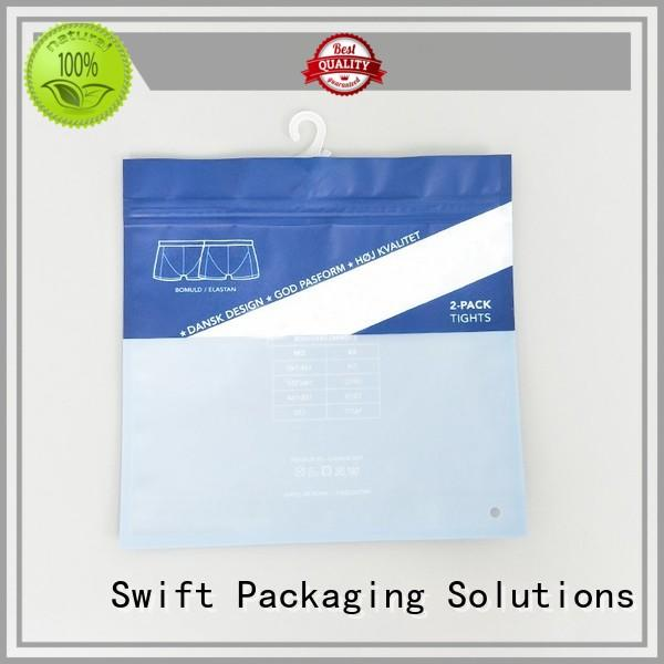 fashion plastic packaging bags wholesale with good price for underwear