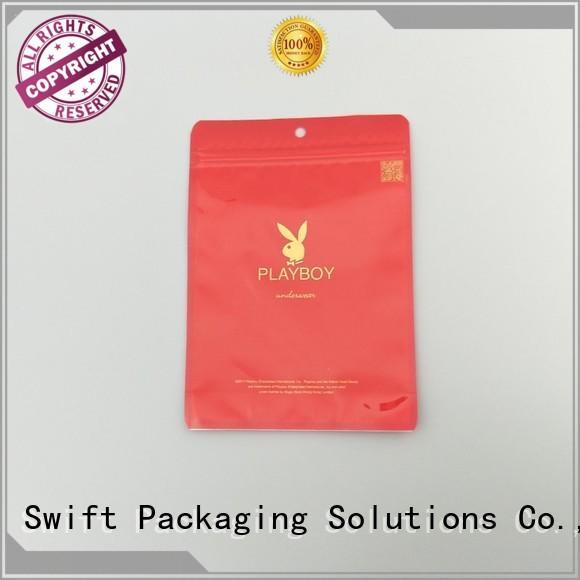 SWIFT transparent plastic bags for sale wholesale for underpants