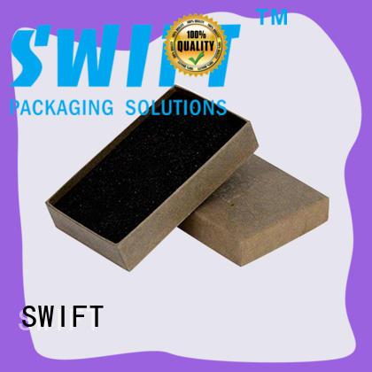 SWIFT printing cardboard jewelry boxes factory price for gifts
