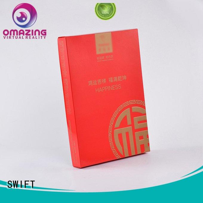 hat clothing packaging boxes printed tie SWIFT