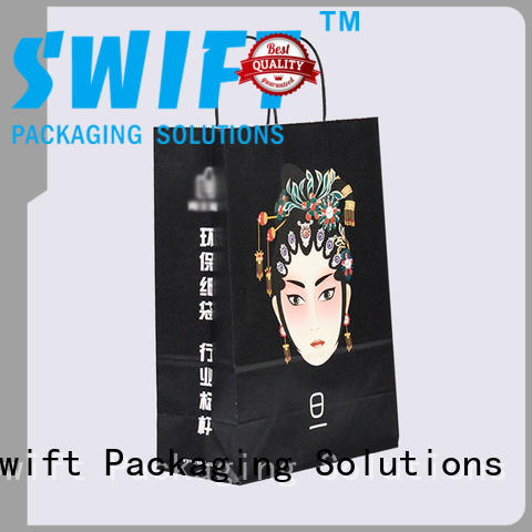 SWIFT recycle paper gift bags wholesale directly sale for holiday