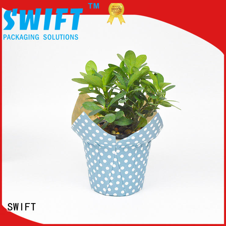 SWIFT cost-effective paper pot cover manufacturer for potted plant