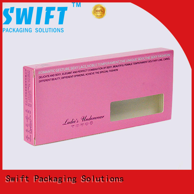 SWIFT exquisite underwear packaging boxes factory for ladies
