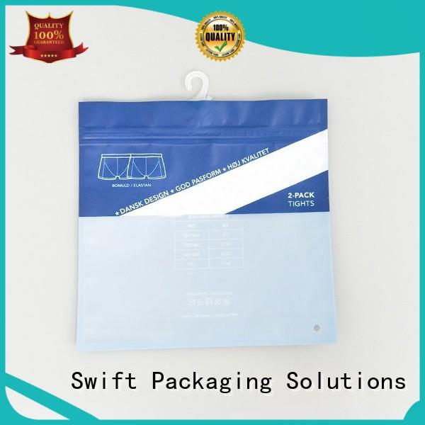 SWIFT zip lock plastic bags customized for underpants