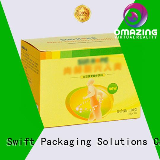 packaging design cardboard food boxes window pie SWIFT company