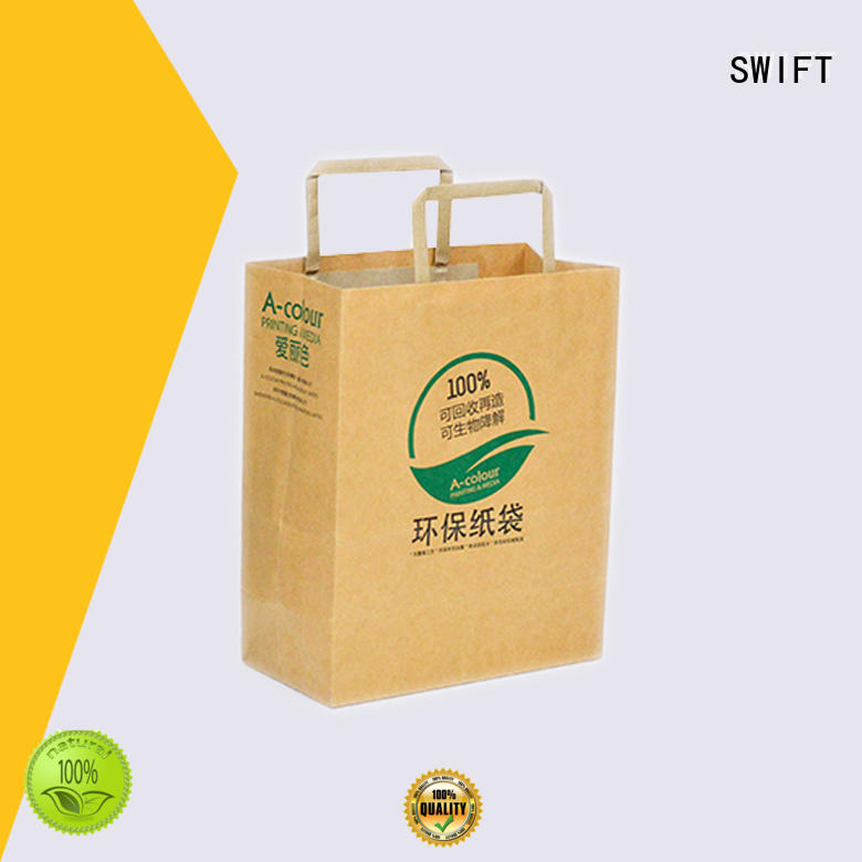 SWIFT paper shopping bags with good price for t shirt
