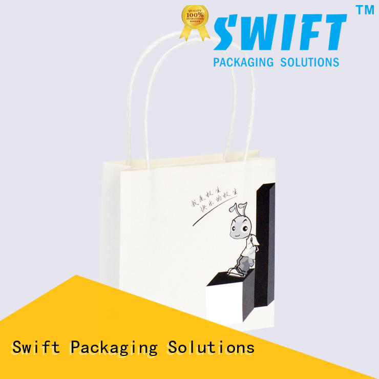 SWIFT eco friendly paper gift bags wholesale supplier for Christmas