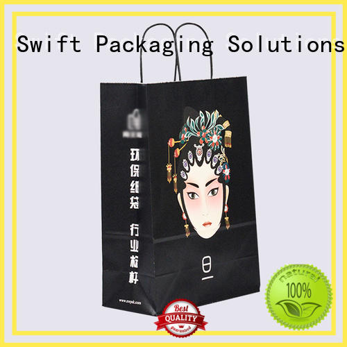 SWIFT kraft paper gift bags wholesale manufacturer for birthday