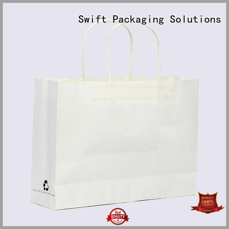 SWIFT paper gift bags with handles factory price for holiday