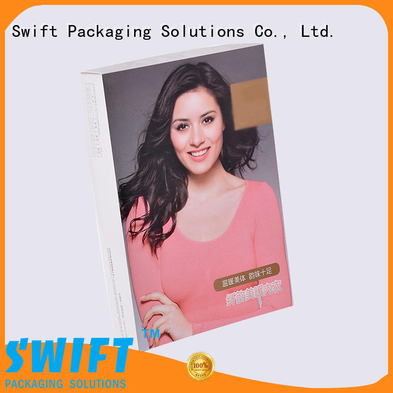 SWIFT shirt packaging box directly sale for jacket