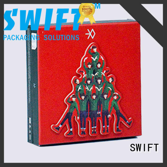 SWIFT lovely cardboard gift boxes factory price for Christmas