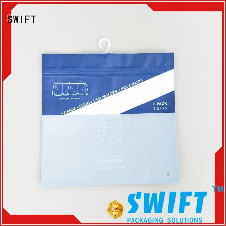 SWIFT printing zip lock plastic bags factory price for briefs