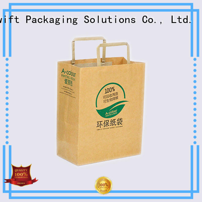 SWIFT paper shopping bags customized for t shirt