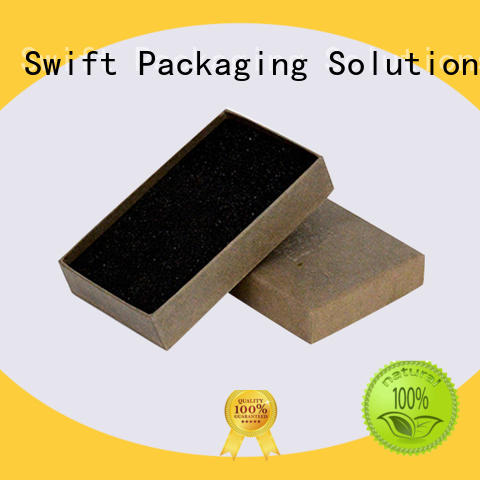 SWIFT high quality cardboard jewelry boxes factory for earrings