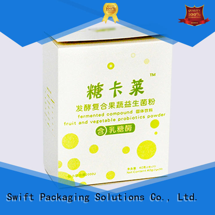 SWIFT folding cardboard food packaging with good price for chocolate