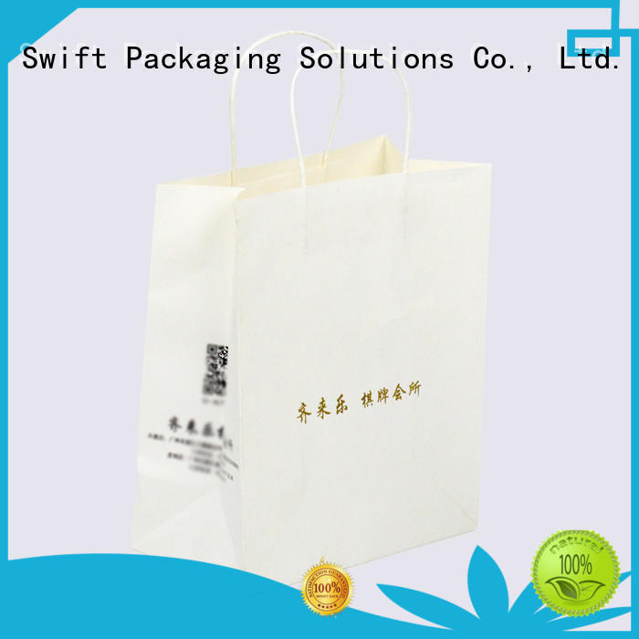 SWIFT paper gift bags with handles manufacturer for holiday