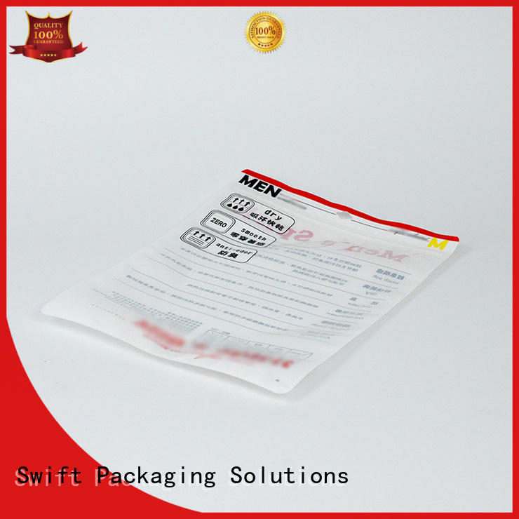 SWIFT modern cloth packaging bags directly sale for pants